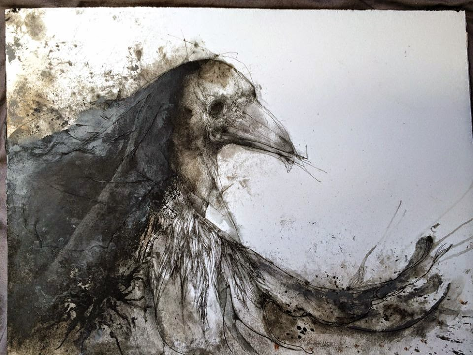 Eric Lacombe OIZ019 / 30 x 40 cm / Acrylic on paper / April 2014