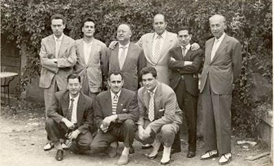 Participantes en el torneo de ajedrez por eliminatorias de La Pobla de Lillet 1959 y en el match Lillet-Comarca