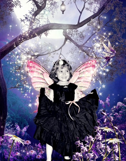 Childhood Fairy Digital Collage