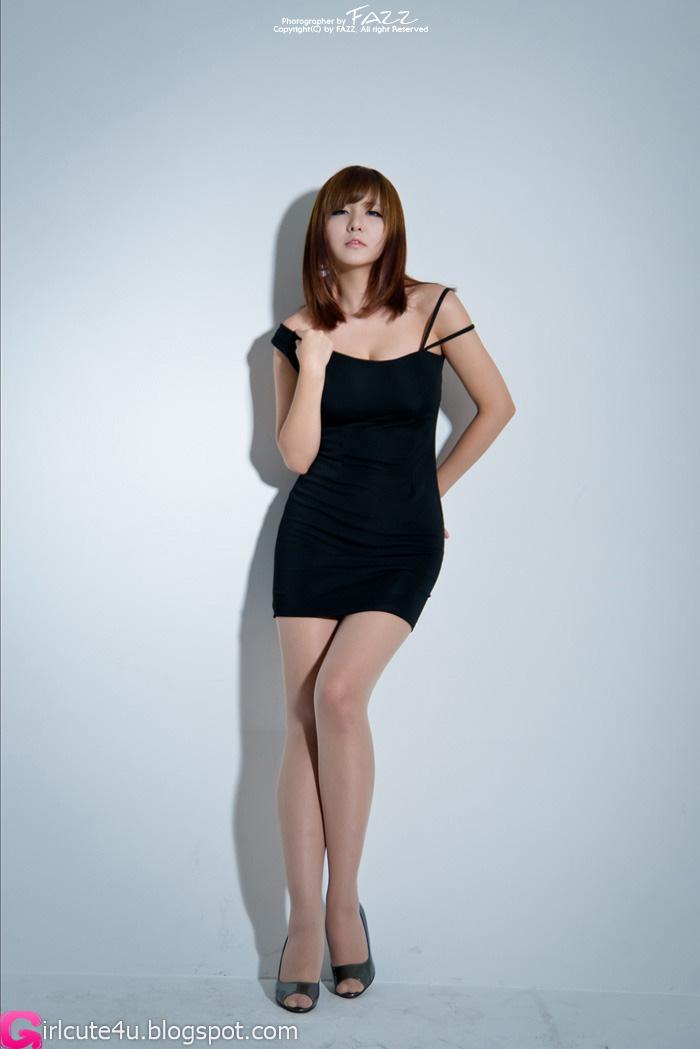 Ryu Ji Hye - Black Dress ~ Cute Girl - Asian Girl