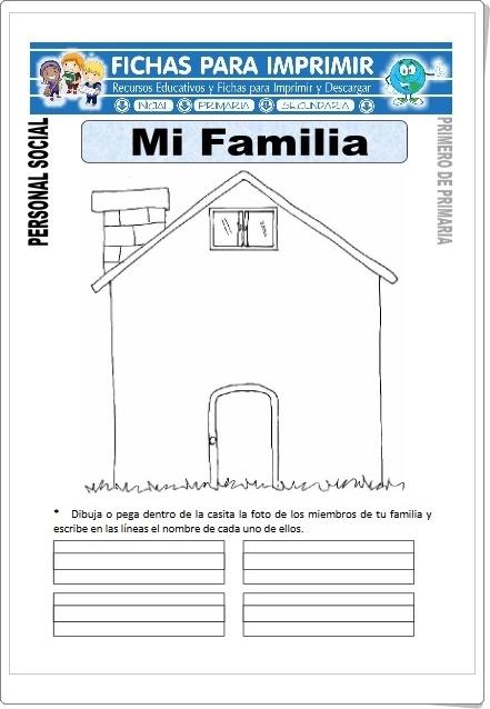 """""""Mi Familia"""" (Fichas de Ciencias Sociales de Primaria)"""