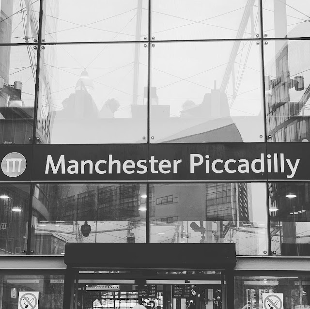 Black and White Photo - Manchester Piccadilly Train Station