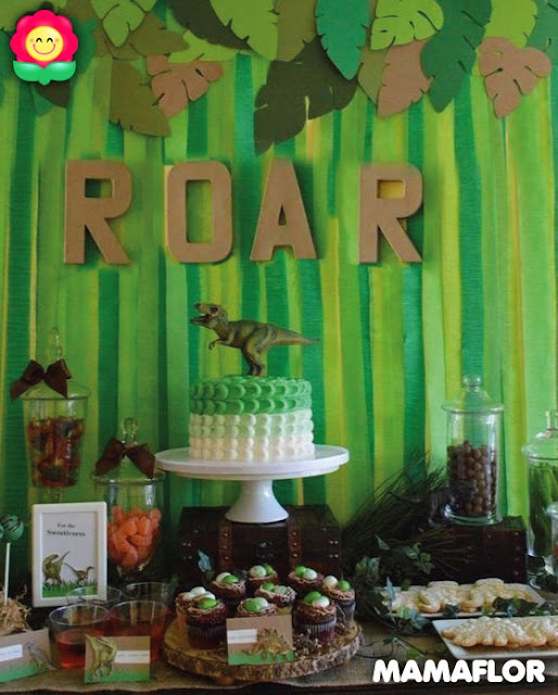 ideas dinosaurio fiesta decoracion candy bar sorpresa