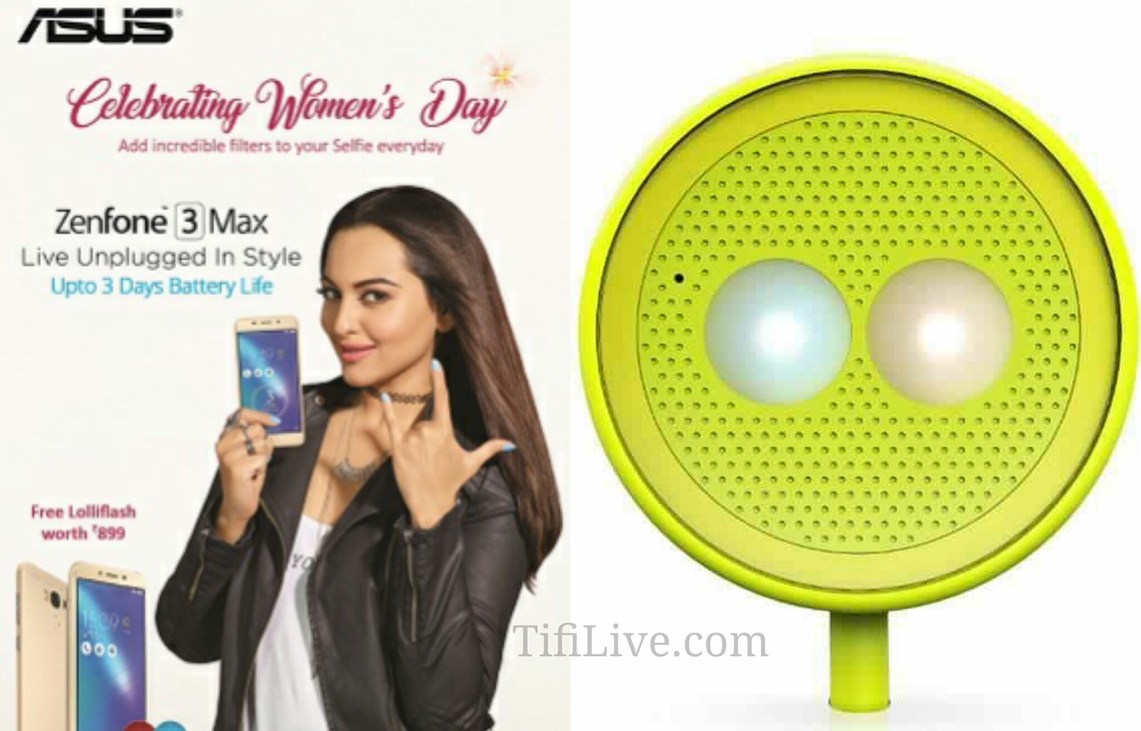 Asus Gifting Lolliflash with the purchase of Zenfone 3 Max series As the part of Women's Day Celebration