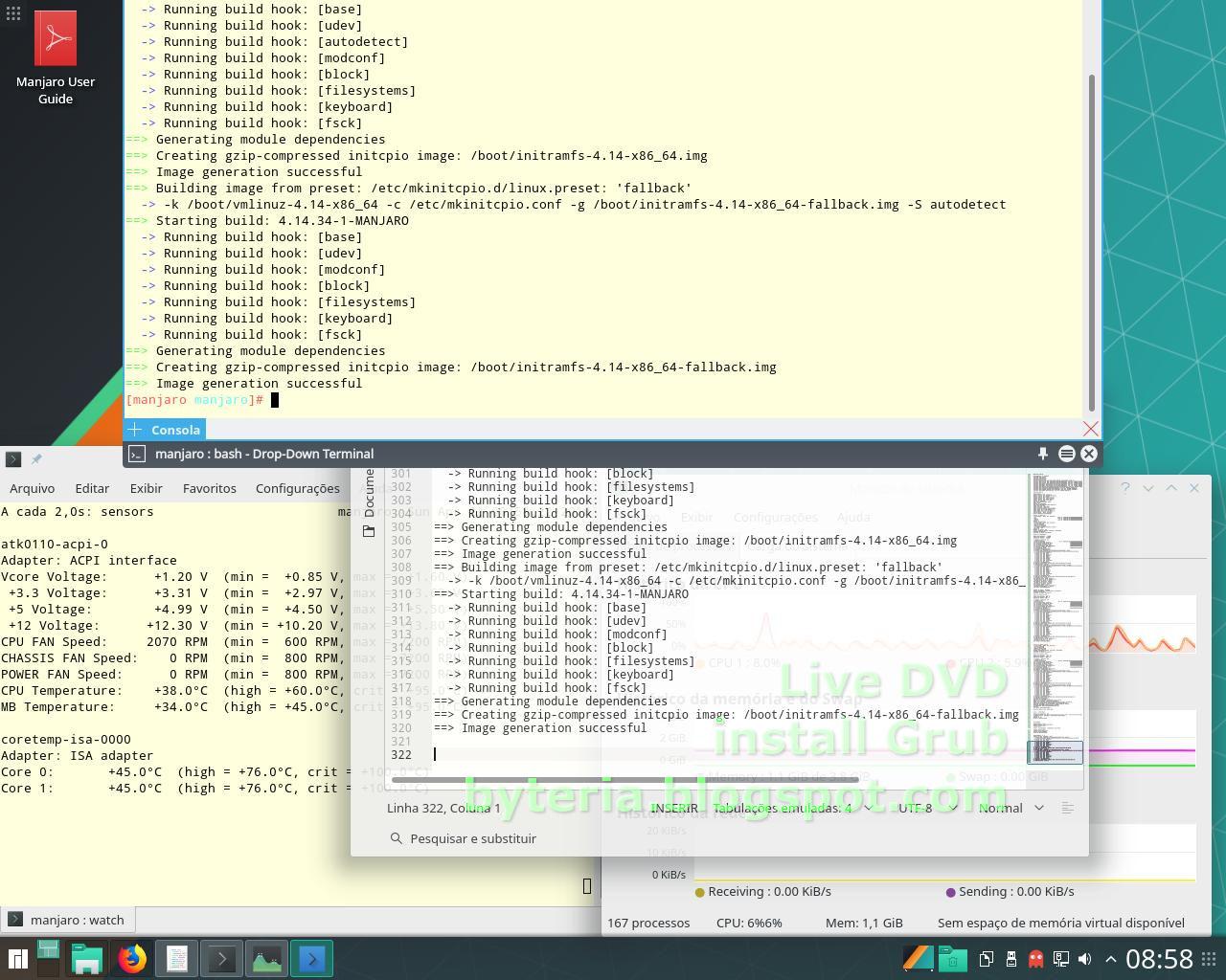 Byteria: Manjaro 17 1 8 KDE - Live, install, config