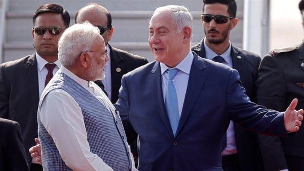 Manifestantes indios protestan contra visita de Netanyahu
