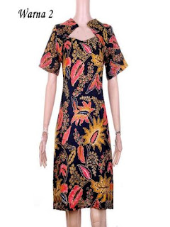 Dress Batik Modern Gambar
