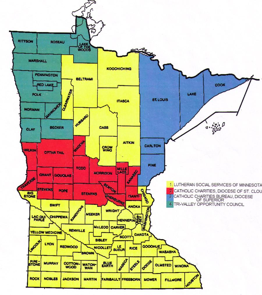 Minnesota County Map Area County Map Regional City