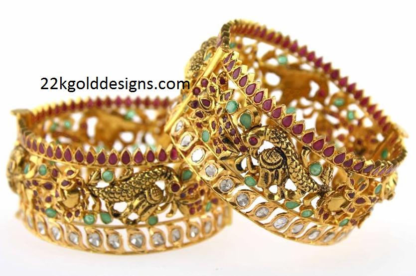 Exquisite Broad Bangles Design