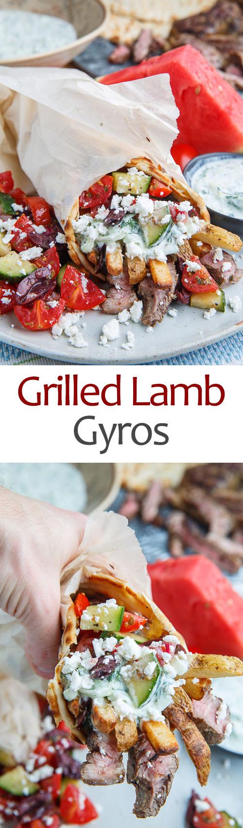 Grilled Lamb Gyros