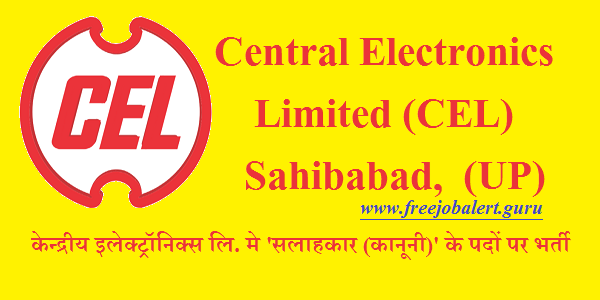 Central Electronics Limited, CEL, CEL India, Uttar Pradesh, UP, Advisor, Law, LLB, Graduation, Latest Jobs, cel india logo