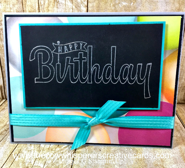 Card, Birthday Wishes for You, Picture Perfect Party, Embossing