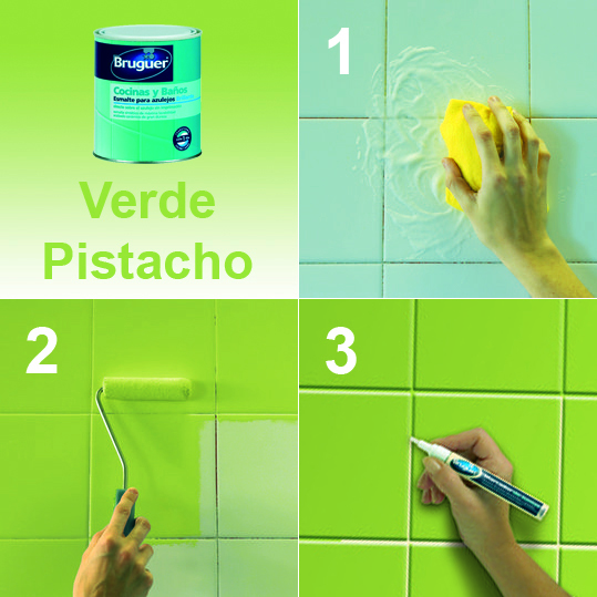 Mundocolor bruguer c mo renovar tu ba o o cocina f cilmente - Pintura para azulejos cocina colores ...