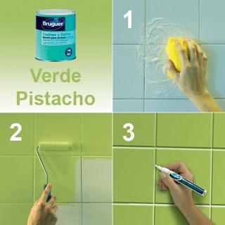 Mundocolor bruguer c mo renovar tu ba o o cocina f cilmente - Esmaltes para azulejos ...