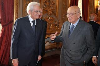 Mattarella with his predecessor Giorgio Napoletano