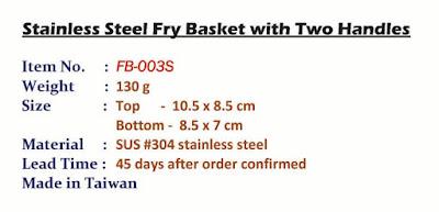 fry basket, mesh basket, fryer basket