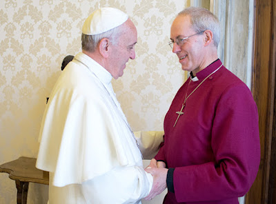 Pope Franic and Justin Welby