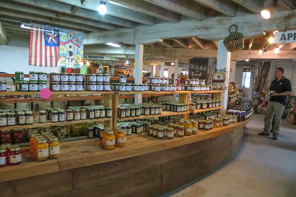 Items for sale at the Historic Round Barn