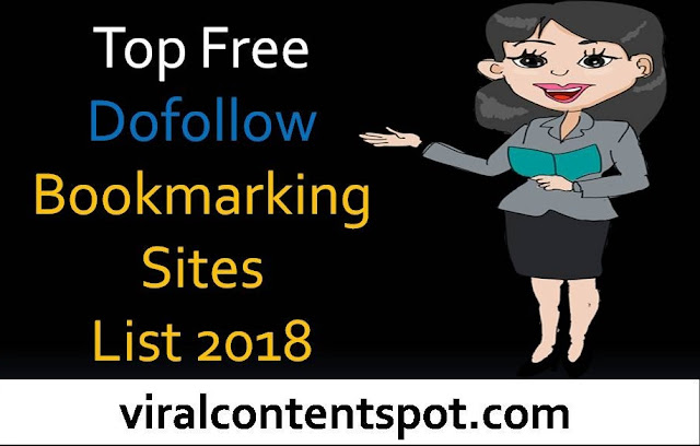 Top Free Dofollow Bookmarking Sites List 2018