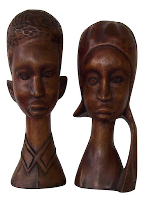 Wood Carving of Young African Americans