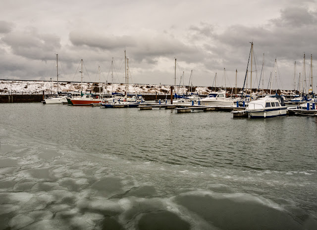Photo of ice on the water at Maryport Marina