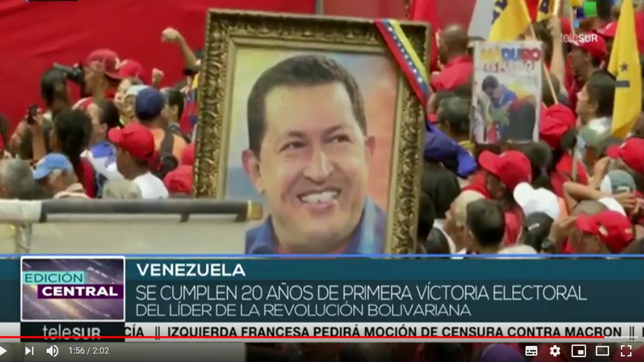 Venezuela: celebran 20 años de la primera victoria electoral de Chávez