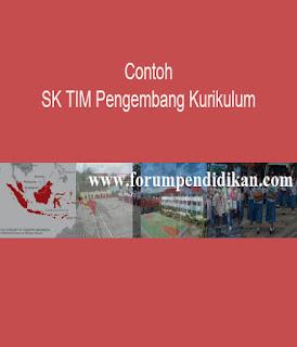 Contoh SK Tim Pengembang Kurikulum   Kurikulum