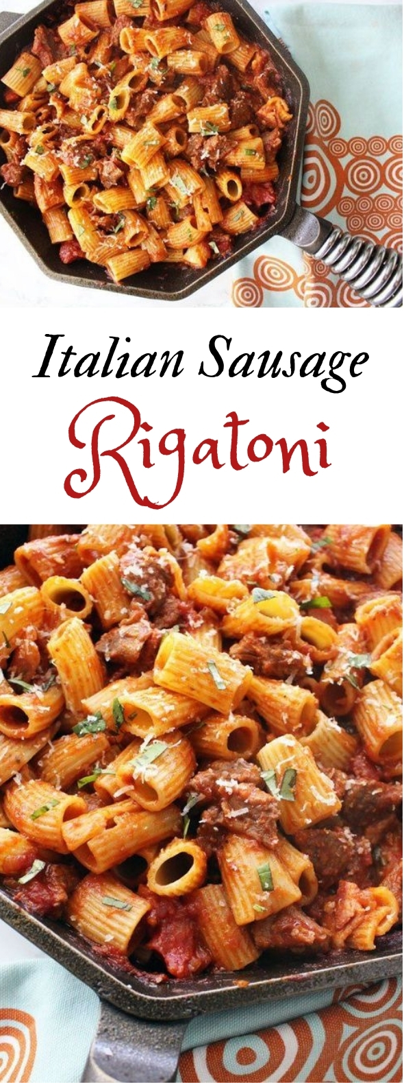 RIGATONI WITH ITALIAN SAUSAGE #pasta #dinner