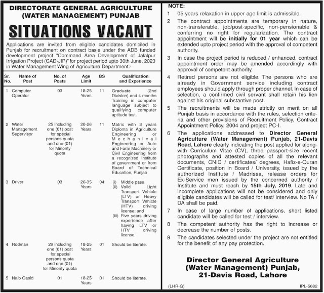 New Jobs in Agriculture Department Jobs 2019