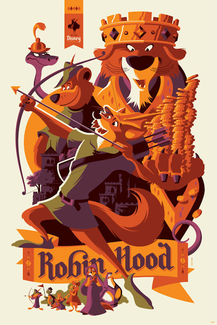 Disney's Robin Hood Screen Print by Tom Whalen x Cyclops Print Works