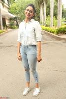 Rakul Preet Singh in Jeans and White Shirt At Jaya Janaki Nayaka le Logo Launch ~  Exclusive 051.JPG