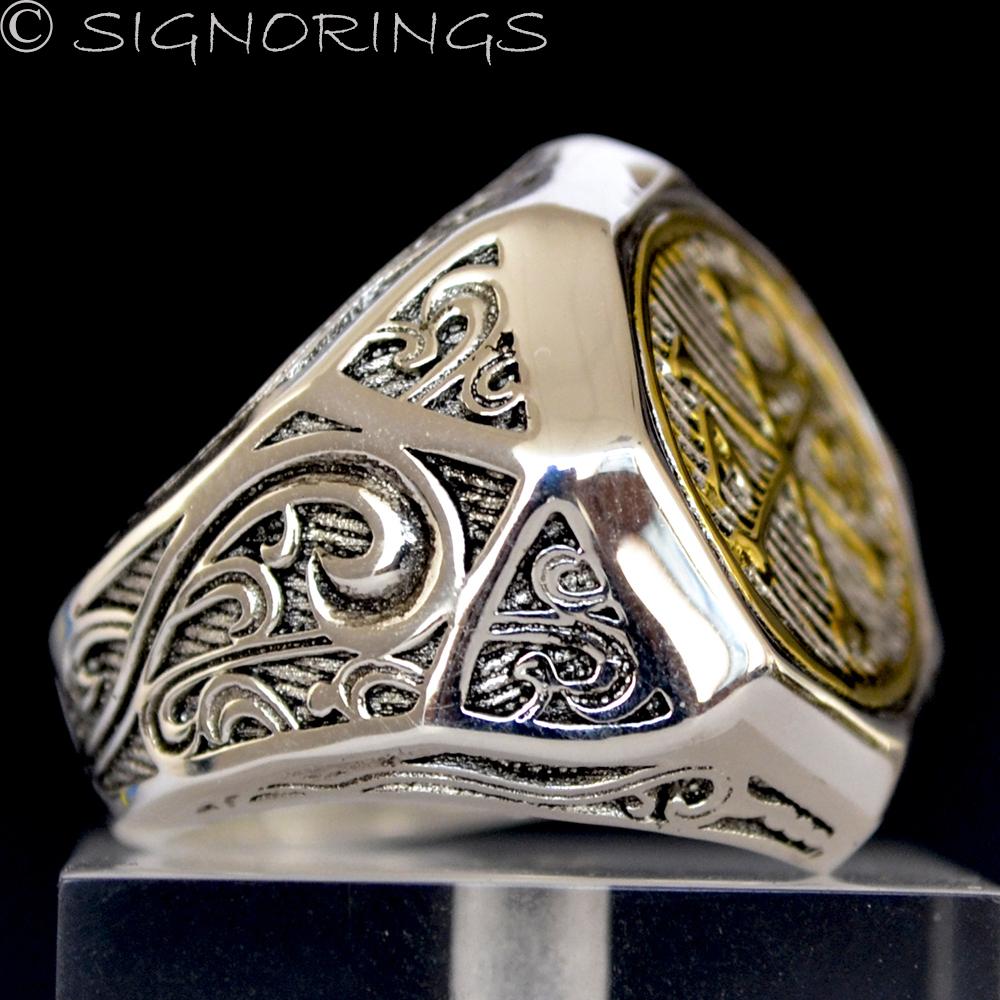 Gold Chi Rho Alpha Omega Knights Templar Sterling Silver
