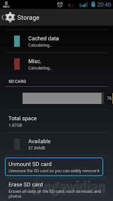 Cara Membagi Partisi SD Card Android