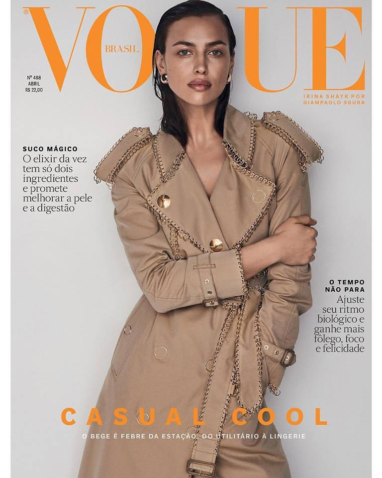 Irina Shayk for Vogue Brazil April 2019