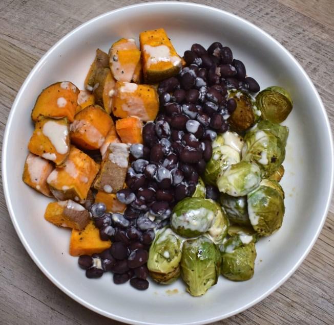 Essentials Power Bowl w/ Tahini Lime Drizzle#vegetarian #glutenfree