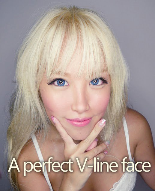 Blonde wife facial glazing