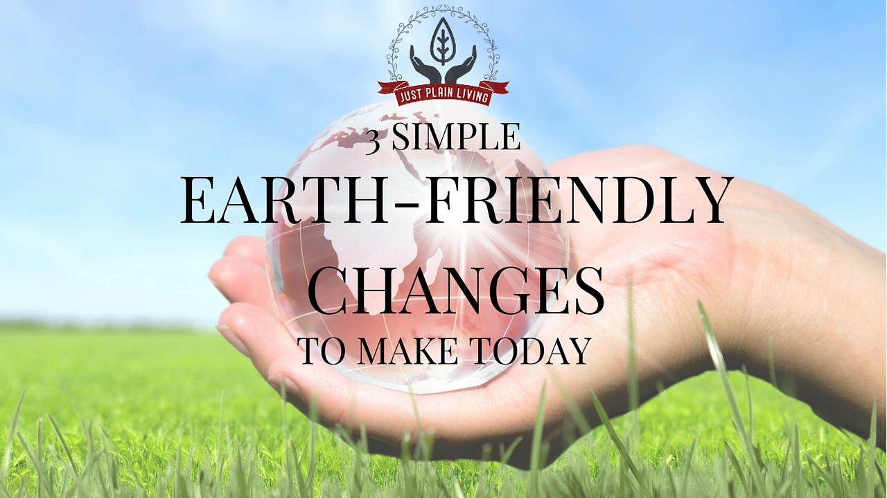 """Forget """"all or nothing"""" - here are three simple changes you can make in your life to make your home a bit more earth-friendly"""