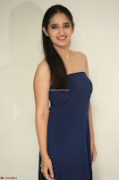 Radhika Mehrotra in sleevless Strap less Blue Gown At Prema Entha Madhuram Priyuraalu Antha Katinam Movie Interview ~  Exclusive 090.JPG