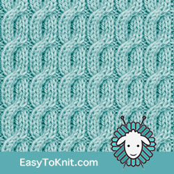 Twist Cable 24: 2/2/2 Right Purl Cross | Easy to knit #knittingstitches #knitcables