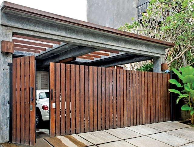 warna cat pagar kayu modern terbaru