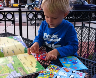 Image: Sticker book happy hour!