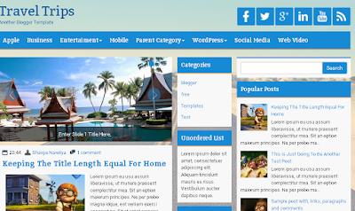 contoh template blog yangcocok untuk wisata
