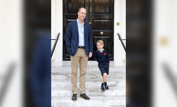 Duke and Duchess of Cambridge release photo of Prince George's first day at school
