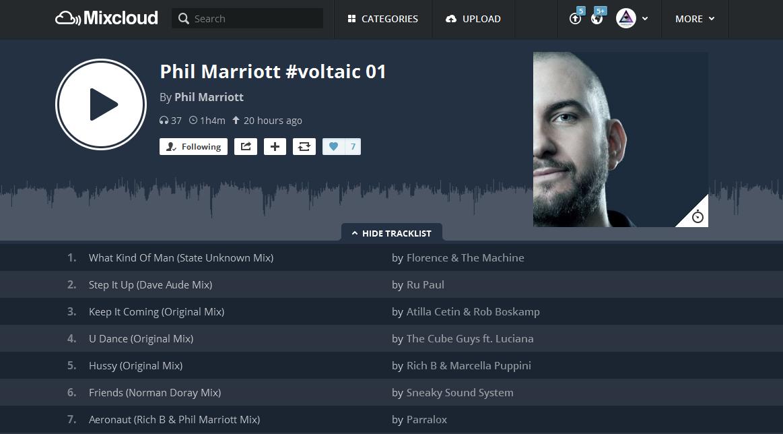 Phil Marriot (UK) adds Aeronaut to Mixcloud / UK + USA Radio Airplay