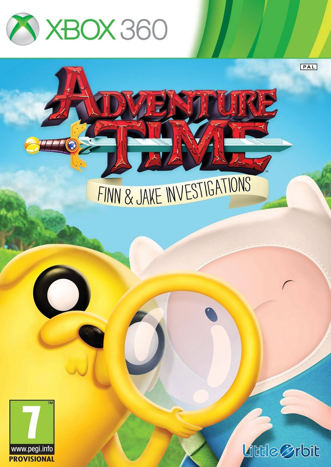 Adventure Time Finn And Jake Investigations ESPAÑOL XBOX 360 Cover Caratula