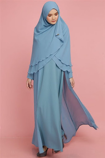contoh desain model hijab syar i Terbaru