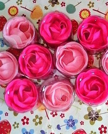 Jual Souvenir Sabun Bentuk Bunga Mawar