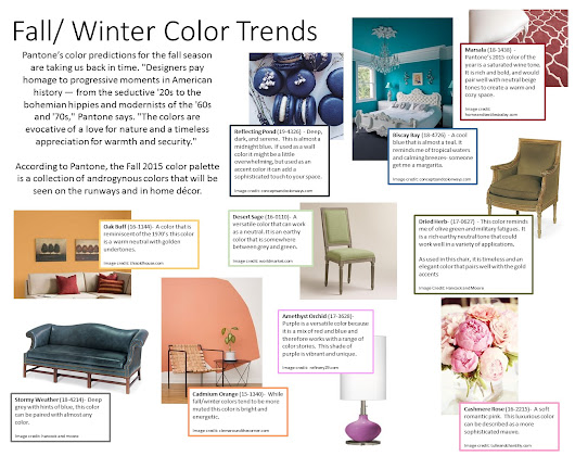 Fall/ Winter Color Trends