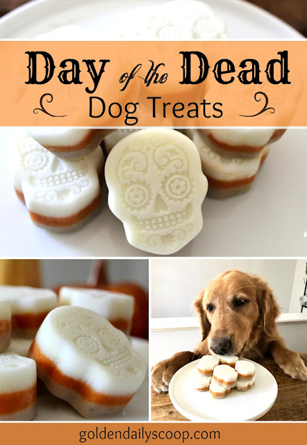 homemade day of the dead dog treats diy