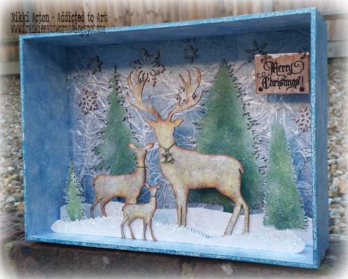 Christmas Shadow box by Nikki Acton - featuring That's Crafty products